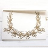 Weddingstar Gold Laurel Wreath Design Paper Placemats (Set of 30)