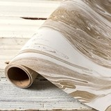 Weddingstar Gold and White Marble-Print Paper Table Runner
