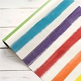 Weddingstar Vibrant Painted Stripes Paper Table Runner