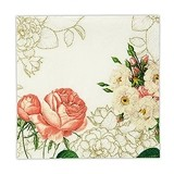 Weddingstar Pink Rose Floral Print Paper Napkins (Set of 20)
