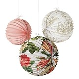 Weddingstar Floral Print Paper Accordion Lanterns (Assorted Set of 3)
