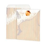 Metallic Copper Dots Paper Treat Bags with Foil Stickers (Set of 8)