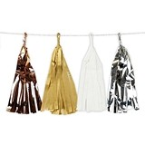 Weddingstar Mixed Metallic Foil and Tissue Tassels Garland