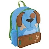 Stephen Joseph Personalizable Blue Puppy Dog Kid's Backpack