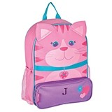 Stephen Joseph Personalizable Pink Kitty Kid's Backpack
