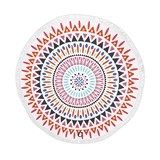 Weddingstar Personalizable Multicolor Tribal Print Round Beach Towel