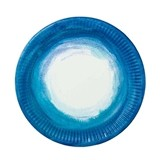 Weddingstar Aqueous Motif Coastal Blue Round Paper Plates (Set of 12)