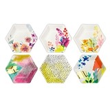 Weddingstar Bright Florals Hexagon Paper Plates (Set of 12)