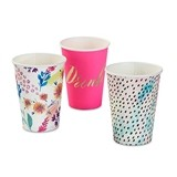 Weddingstar Bright Florals Large 12 oz. Paper Cups (Set of 12)