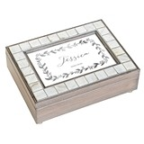 Weddingstar Luxury Pearl Music Box - Botanical Wreath Foiled Print