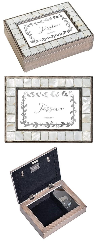 Weddingstar Luxury Pearl Music Box - Botanical Wreath Foiled Print