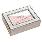 Weddingstar Luxury Pearl Music Box - Retro Luxe Foiled Print