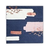 Weddingstar Navy Brush Stroke Cocktail Napkins (Set of 8)