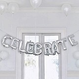 Weddingstar Silver Foil Balloon Decoration - Celebrate