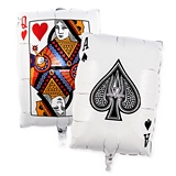 Weddingstar Mylar Foil Helium Party Balloon - Vegas Playing Cards