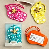 FashionCraft Fun Colorful Flip-Flop-Shaped Luggage Tags (Set of 24)