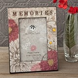 "FashionCraft ""Memories"" Floral Motif MDF Wood Frame"