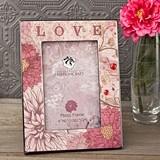 """FashionCraft """"Love"""" Floral Motif Frame MDF Wood Frame"""