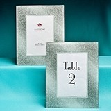 Wide Border Silver Glitz & Glamour Glass Table Number Holder/Frame