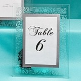 FashionCraft Etched Floral Design Frame/Table Number Holder