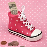 "FashionCraft Pink Ceramic ""All Star"" Sneaker Bank"
