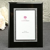 FashionCraft Beveled-Glass Black Frame with Silver Inlaid Inner Border