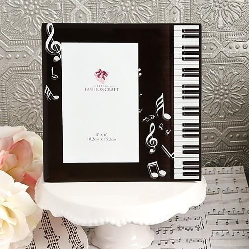 FashionCraft Black Beveled-Glass Music Design Frame
