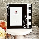 Black Beveled-Glass Music Design Frame