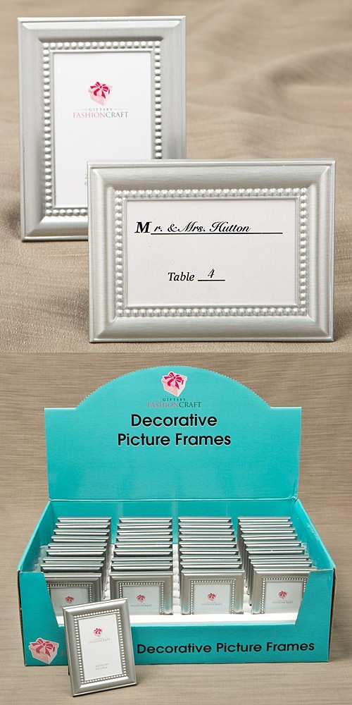 FashionCraft Silver Picture Frames w/ Beaded Inner Border (Set of 40)
