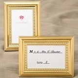 FashionCraft Golden Picture Frames w/ Beaded Inner Border (Set of 40)