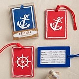 FashionCraft Nautical Design Luggage Tags (Assorted Set of 24)