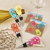 FashionCraft Flip-Flop Bottle Stoppers and Glass Coasters (Set of 12)