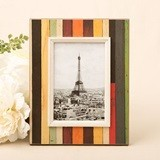 FashionCraft Small Distressed Wood Look Vertical-Striped Frame