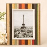 FashionCraft Medium Distressed Wood Look Vertical-Striped Frame