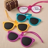 FashionCraft Fun Colorful Mini-Sunglasses Luggage Tags (Set of 12)