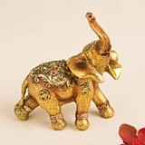 FashionCraft Glorious Good Luck Decorative Mini Elephant Figurine