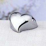 Chrome Placecard Holder: Contemporary Heart