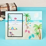 FashionCraft Lovely Flip-Flops & Palm Trees Beach-Themed Glass Frame