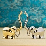 FashionCraft Lucky Elephant Ring Holders in Gold & Silver (4 Assorted)