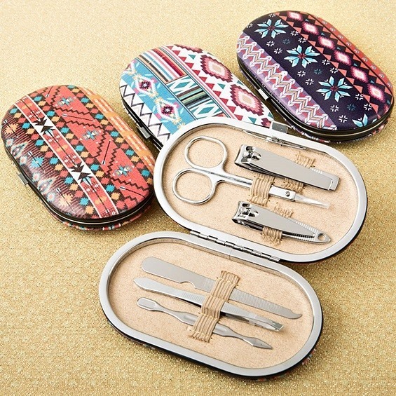 FashionCraft Aztec Design Travel Manicure Sets (3 Designs; Set of 12)