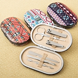FashionCraft Aztec Design Travel Manicure Sets (3 Designs; Set of 12)