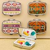 FashionCraft Stylish Aztec Design Fashion Pill Boxes (Set of 12)