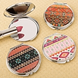 FashionCraft Delightful Aztec Design Compact Mirrors (Set of 18)