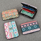 RFID-Blocking Aluminum Wallets in Fun Aztec Designs (Set of 18)