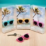 FashionCraft Fun Colorful Mini-Sunglasses Key Chains (Set of 12)