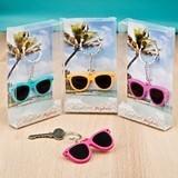 FashionCraft Fun Colorful Mini-Sunglasses Key Chains (Set of 12)