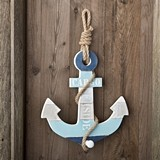 FashionCraft Stunning Anchor-Shaped Wood Coat Hanger with Single Knob