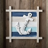 FashionCraft Nautical-Themed Anchor Motif Wall Decoration