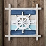 FashionCraft Nautical-Themed Ship's Wheel Motif Wall Decoration