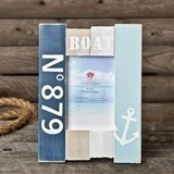 FashionCraft Nautical-Themed Anchor Design 4 x 6 Wood Boat-Motif Frame